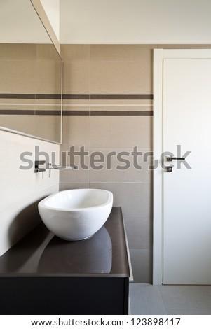 Interior Shot Luxury Bathroom His Hers Stock Photo