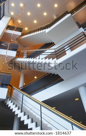 Modern architecture - staircase at company
