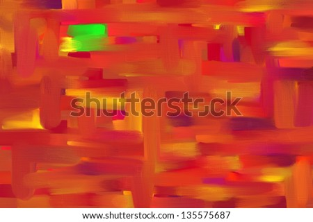 Modern Art Abstract Desktop Wallpaper image in an Oil Painting Style.
