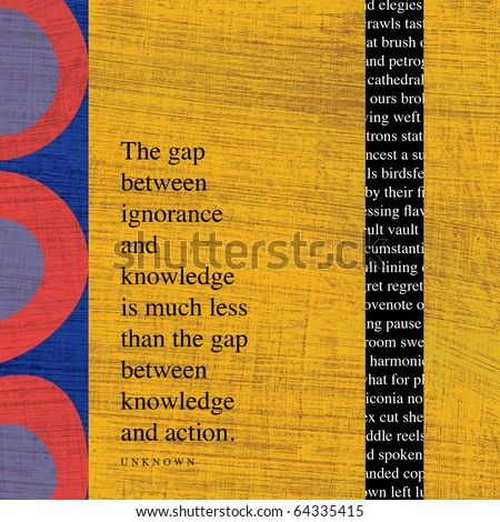 Modern Art Collage with Quotations