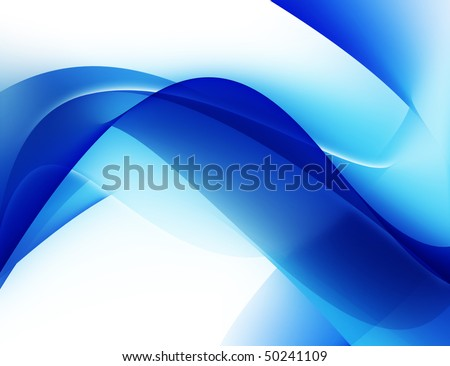 Modern background with blue abstract smooth lines