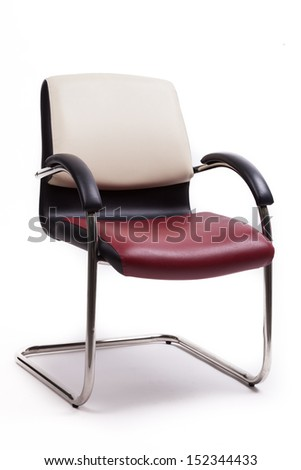 modern chair on white background
