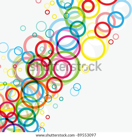 Modern colorful background with abstract bright circles. Raster version.