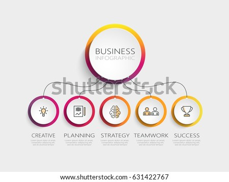 Modern 3d Infographic Template 5 Steps Stock Vector 535402474 ...