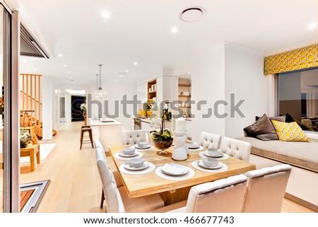 Modern Kitchen Wooden Floor Counter Top Stock Photo 463662338 Shutterstock