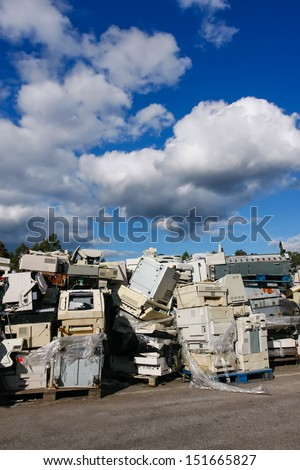 Modern electronic waste for recycling or safe disposal, any logos and brand names have been removed. Great for recycle and environmental themes.