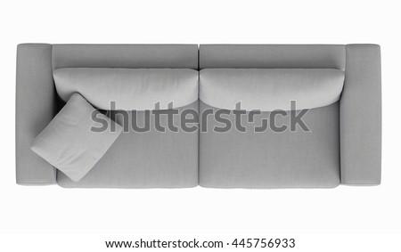 Modern Sofa White Fabric Draped Fabric Stock Photo