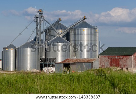 modern farm silo stock photo. Black Bedroom Furniture Sets. Home Design Ideas