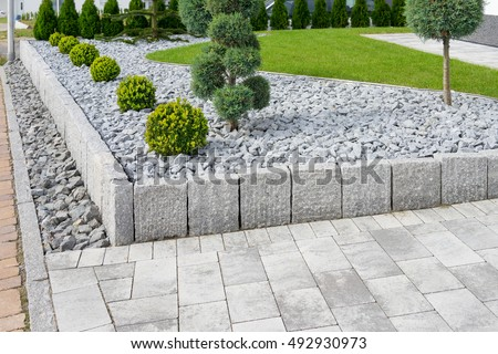 Modern Garden Design Stock Photo 492930973 Shutterstock