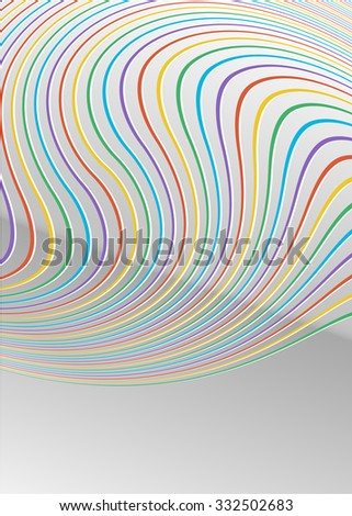 Modern geometrical grey background of bright glowing perspective with colors lines of light. Gorgeous graphic image template. Abstract Illustration for new products or sales