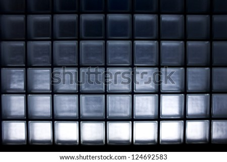 Modern glass block tiles found in Japan