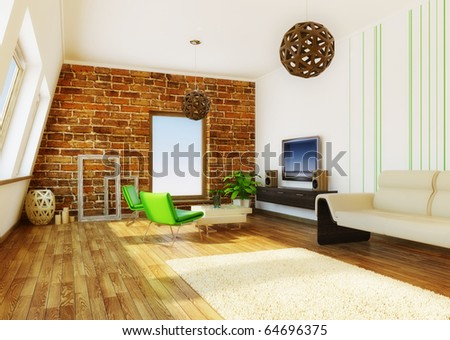 Modern livingroom tv hifi equipment stock photo 99244016 shutterstock - Nice interior pic ...