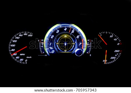 Speedometer Tachometer Fuel Temperature Gauge Isolated Stock - Car signs on dashboardcar dashboard signs speedometer tachometer fuel and temperature