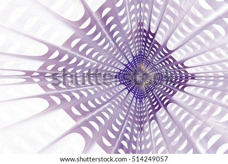 Modern purple and yellow woven network / diamond design on white background