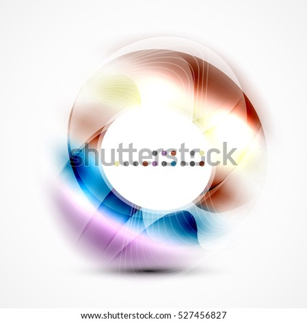 Modern shiny blurred swirl template, layout for message presentation