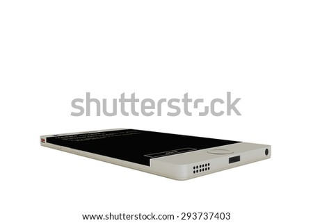 modern smartphone isolated on white background