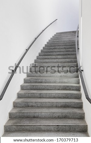 modern staircase at an office building