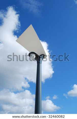 modern street lamp with blue sky background
