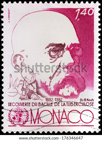 Monaco circa 1982 a st printed by monaco shows image portrait of