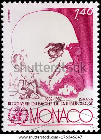 Monaco circa 1982 a st printed by monaco shows image portrait of