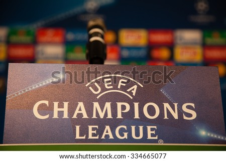 Monchengladbach, GERMANY - 2nd NOVEMBER, 2015: Press conference ahead of UEFA Champions League group match Borussia Monchengladbach vs. Juventus FC.