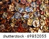 money,euro coins under  water,suitable for background and texture - stock