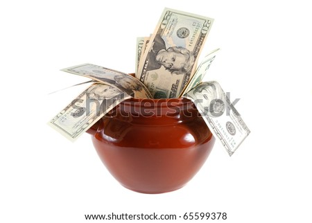 Money in a pot