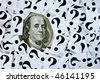 "Money matters. ""Questions"" series - stock photo"