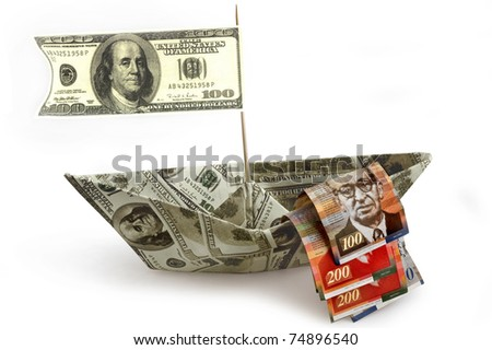 money ship with shekels