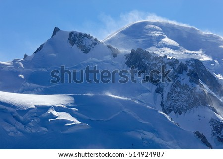 Mont Blanc (4810m) in Haute Savoie, France, Europe