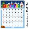 Monthly calendar December 2008 - stock vector