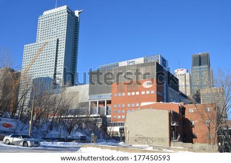 Winnipeg Canada 20141118 Winter View On Stock Photo