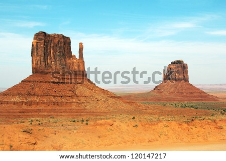 Monument Valley National Park, Arizona. Mittens
