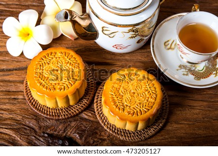 Moon cake -- food for Chinese mid-autumn festival