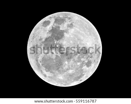 moon on black background