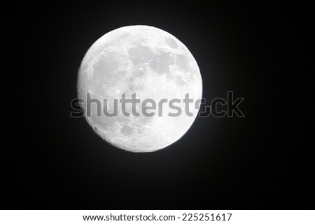 moon on the sky as symbol outer space