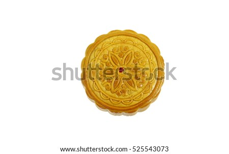 Mooncake on a white background.