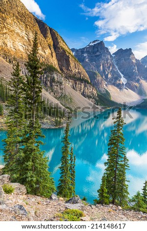 moraine lake in summer Travel Alberta canada
