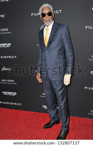 "Morgan Freeman at the Los Angeles premiere of his movie ""Olympus Has Fallen"" at the Cinerama Dome, Hollywood. March 18, 2013  Los Angeles, CA Picture: Paul Smith"