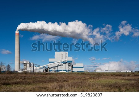 MORGANTOWN, WEST VIRGINIA, USA - NOVEMBER 18: Longview Power Station near Morgantown WV on November 18, 2016. This is one of the cleanest coal powered plants