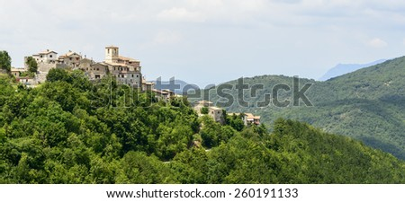 Morro Reatino (Rieti, Lazio, Italy), historic village: panoramic view on the valley