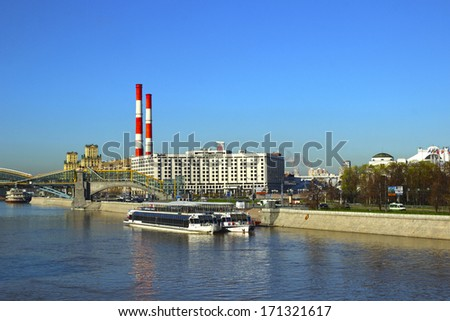 MOSCOW - May 07: Radisson Slavyanskaya Hotel on the Moskva River embankment on May 07, 2013 in Moscow