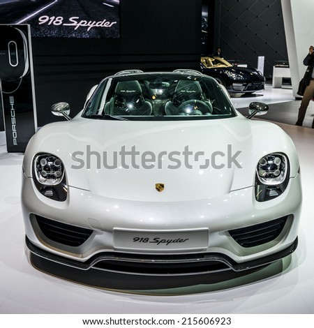 MOSCOW, RUSSIA - August 26: Porsche Presentation at MIAS 2014 in Moscow, 26 August 2014