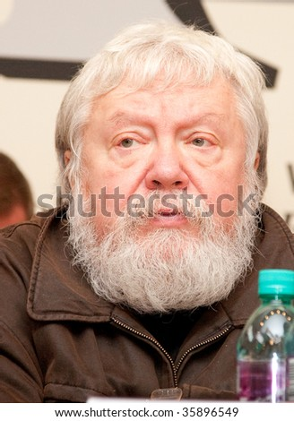 MOSCOW, RUSSIA, AUGUST,25: Russian Director Sergei Soloviev at the press conference of Moscow National Cinema Festival Moscow Premiere,  August,25, 2009 at Moscow, Russia