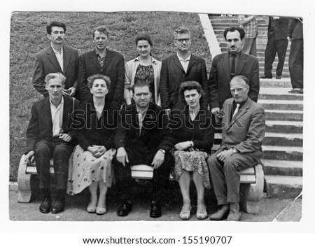 MOSCOW, RUSSIA � CIRCA 1940: Group of an unidentified people