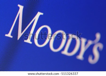 "MOSCOW, RUSSIA - JUL 24, 2016: The inscription ""Moody's"" on the computer screen"