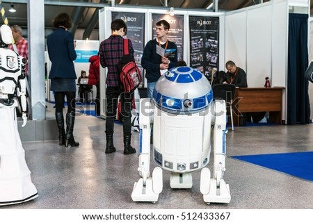 "Moscow, Russia, November 4, 2016: The 4rd International Exhibition of Robotics and advanced technologies ""Robotics Expo"" in Moscow."