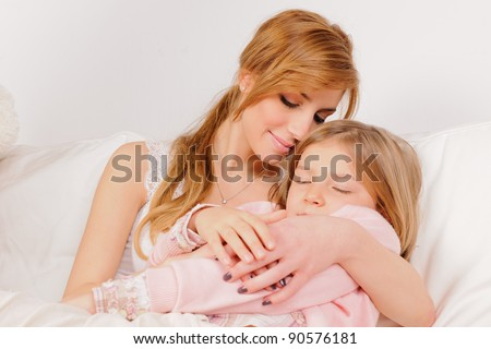 mother with her young daughter