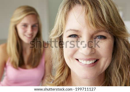 Mother with teenage daughter