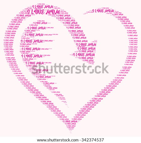 Mothers Day word cloud on white background